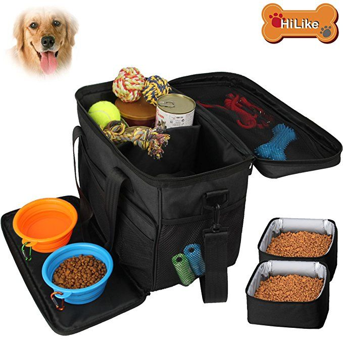 Hilike Pet Travel Bag For Dog Cat Weekend Tote Organizer Bag For
