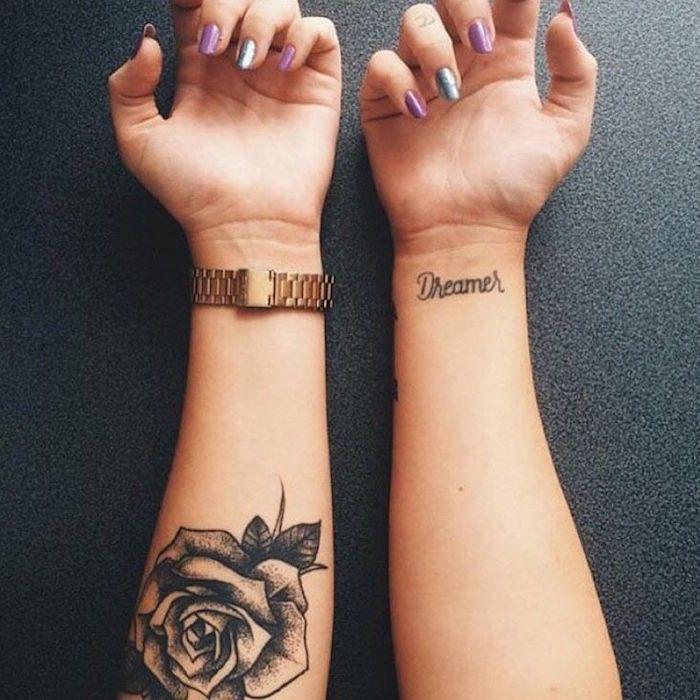Tatouage rose poignet \u2013 elles poussent sur la peau
