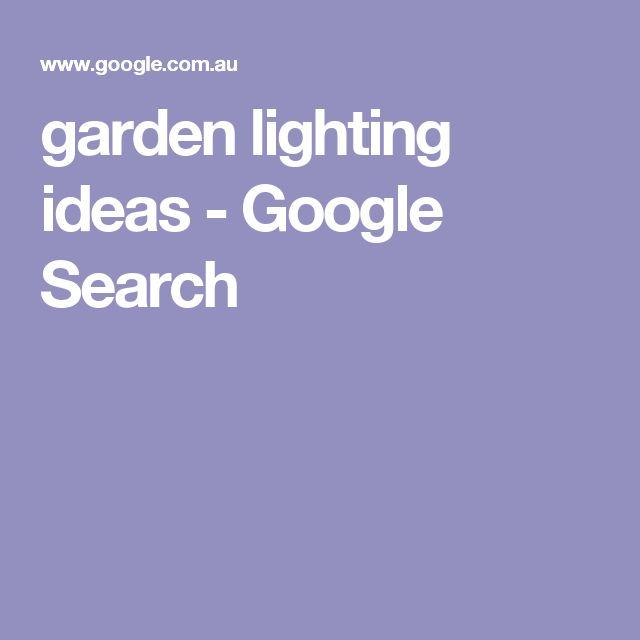 garden lighting ideas - Google Search