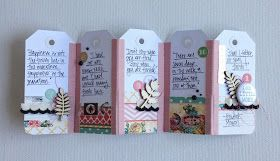 Hello! Tessa here  with an easy way to make a mini album using fabric tape from Love My Tapes and basic shipping tags.        This little bo...