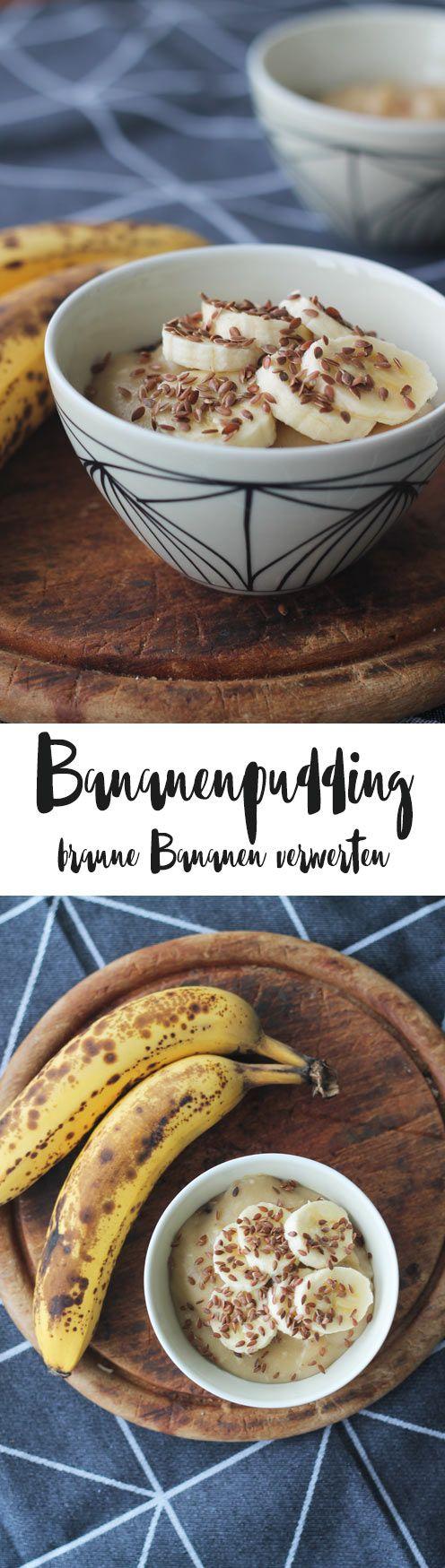 Bananenpudding Rezept - einfach braune Bananen verwerten und Abfall reduzieren