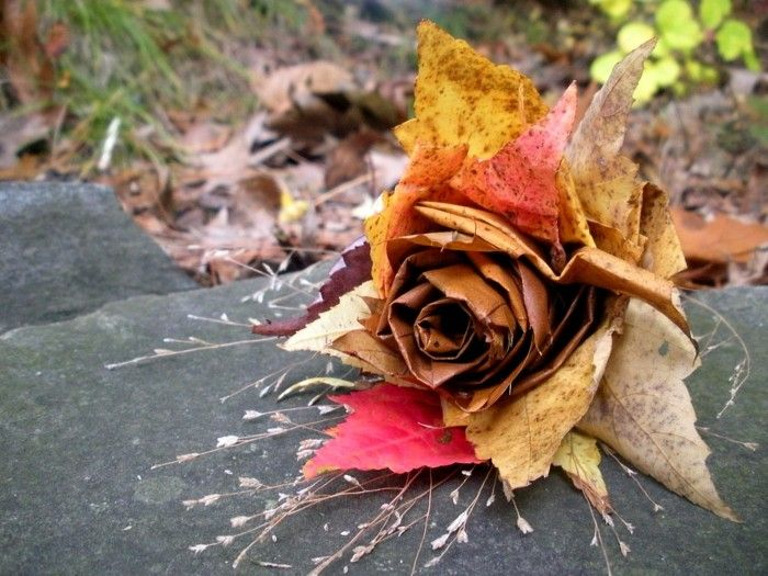 135 best Herbstdeko images on Pinterest Most popular - rose aus stein deko