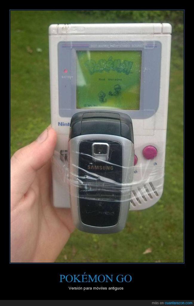 POKÉMON GO - Versión para móviles antiguos   Gracias a http://www.cuantarazon.com/   Si quieres leer la noticia completa visita: http://www.estoy-aburrido.com/pokemon-go-version-para-moviles-antiguos/