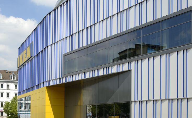 Ikea-Neubau in Hamburg-Altona / Fassade - BauNetz.de