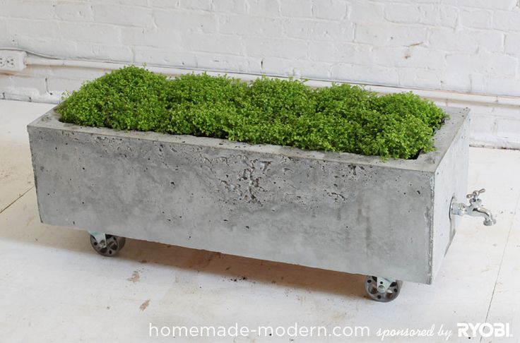 DIY Concrete Planter / HomeMade Modern