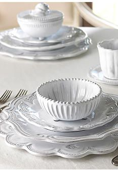 Vietri Incanto white dinnerware brides most popular collection for their registry-simply beautiful!  sc 1 st  Pinterest & 1035 best Table Settings images on Pinterest | A rock Cards diy and ...