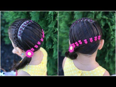 Peinado para niña con ligas y shakiras| Peinados faciles y rapidos para niña|LPH - YouTube