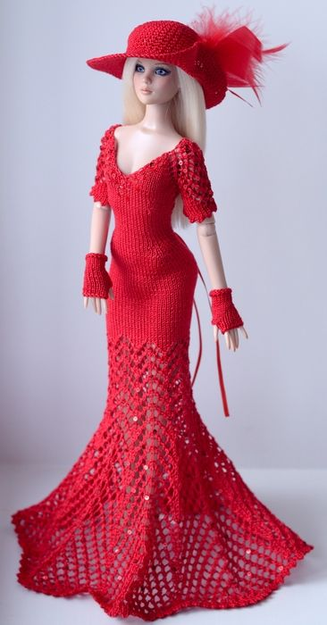 Barbie Tricot Rouge ,,,,