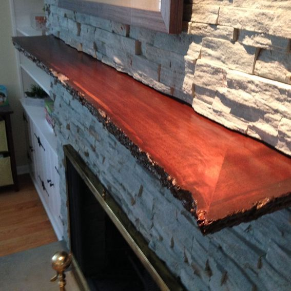 Live Edge Slab Mantel Fireplace 703ng Pinterest