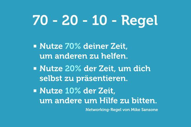 Netzwerken: Die 70-20-10-Regel | Karrierebibel.de
