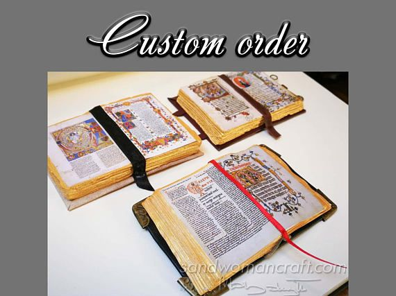 Custom order-For David-Three miniature open books in 1/6