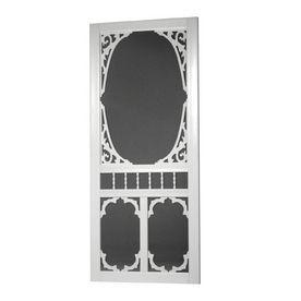 Screen Tight Charlestowne White Vinyl Hinged Screen Door (Common: 32-I