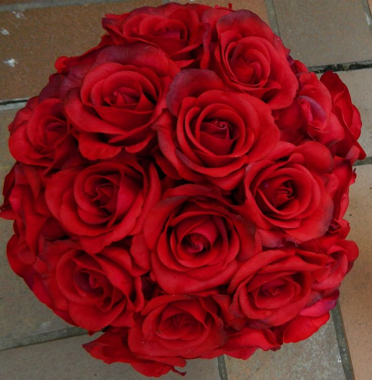 Real Touch Red roses, Large posy $200.00, Medium $165.00, and small $125.00. #redrosebouquet, #redweddingflowers, #realtouchroses, #redroses, #weddingflowers, #fakeweddingflowers