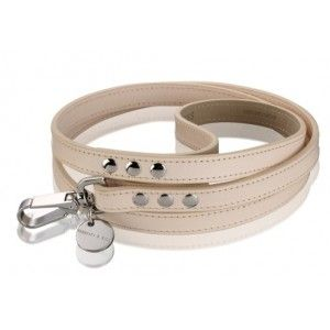 Hennessy & Sons Natural LV Leather Dog Lead.  Price £37.99