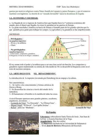HISTORIA: EDAD MODERNA. Spanish by pablo gomez - issuu