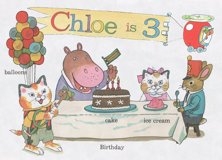 Custom Busytown Richard Scarry Birthday Invitation Digital File. $15.00, via Etsy.