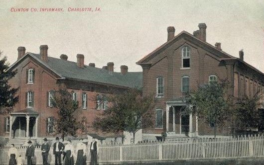 Photograph Clinton County Poor Farm at Charlotte, Iowa. c.1913. .