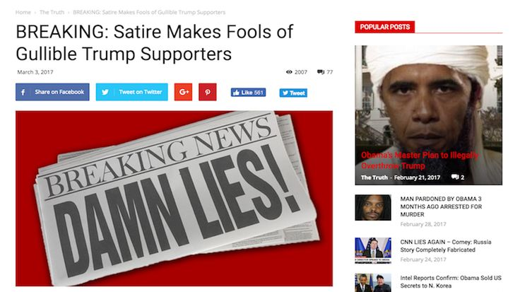 """Fake News Site Gains Over 1M Trump Supporters In Less Than 2 Weeks - """"I was surprised by how gullible the people in the Trump groups were, but as I continued to write ridiculous things they just kept getting shared and I kept drawing more viewers,"""" the website creator said. 