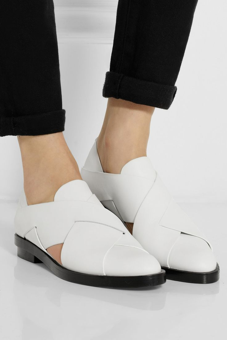 Alexander Wang | Morgan cutout leather loafers | NET-A-PORTER.COM