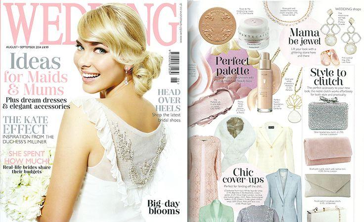 Bridal faux fur wrap Valentina featured in Wedding Magazine 2014