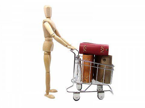Konzeptbild - Shoppen Einkaufswagen voll