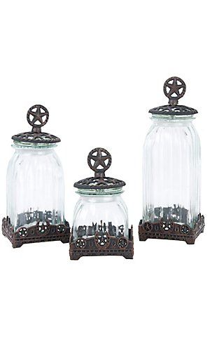 M Western Products® Silverado Glass 3 Piece Canister Set | Cavender's Boot City