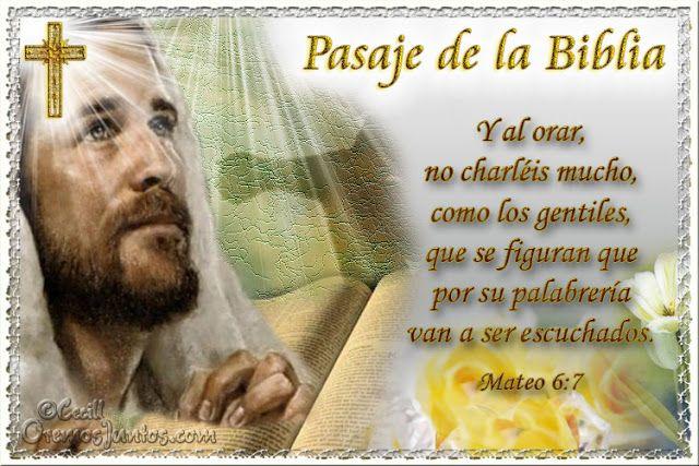 Vidas Santas: Santo Evangelio según san Mateo 6:7