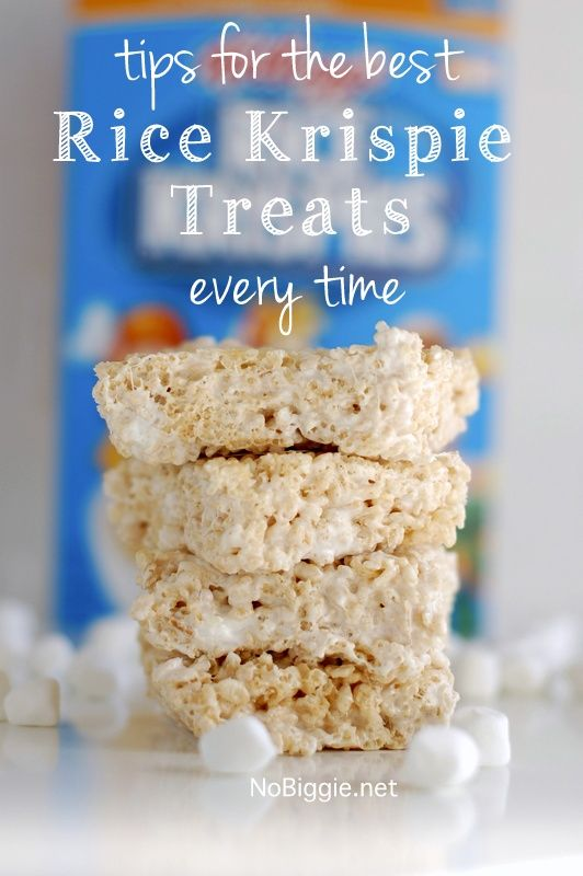 tips for the best Rice Krispie Treats every time - via NoBiggie.net