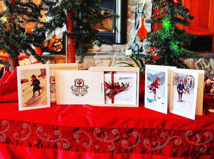 Canadian Winter cards in box set