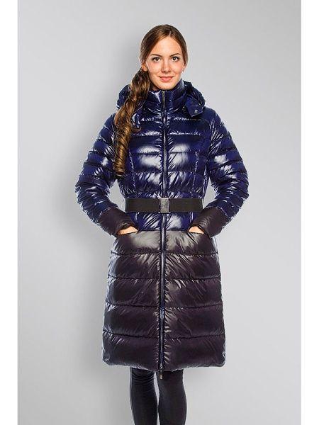 Damen Lang Winterjacke Gepolstert Gesteppt Puffa-Jacke Kapuze Pelz Größe Glanz