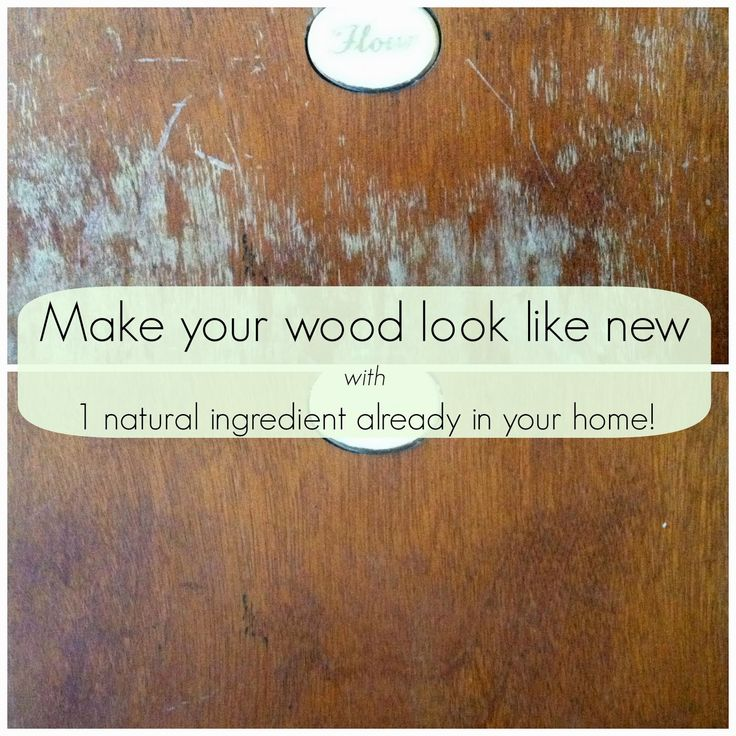 Make your scratched old wood pieces look new again with one simple  ingredient - you probably already have it in your kitchen! - Make Your Scratched Old Wood Pieces Look New Again With One Simple