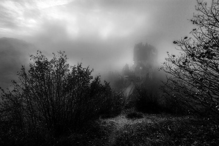 Castle Eltz inside the fog - I hoped for fog on my visit on the castle Eltz and i had plenty of it.  Love the castle inside the deep fog on the background.