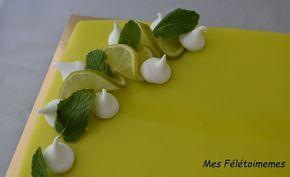 Entremet Mojito à tester immédiatement, une tuerie, biscuit citron vert, croustillant duja, crémeux mojito, gelée de menthe, mousse de pomme verte...