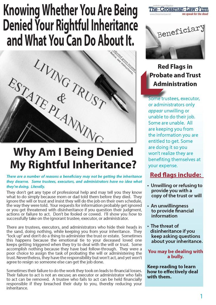 57 best wills trusts estate probate help images on pinterest this detailed brochure will help you to determine what to do next if you are wondering why am i being denied my rightful inheritance solutioingenieria Image collections