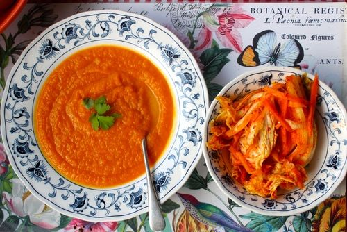 Carrot, Pumpkin and Coconut Soup