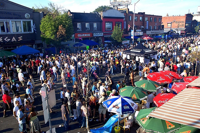 Celebrating Toronto's rich cultural neighborhoods - Taste of the Danforth in Greektown.