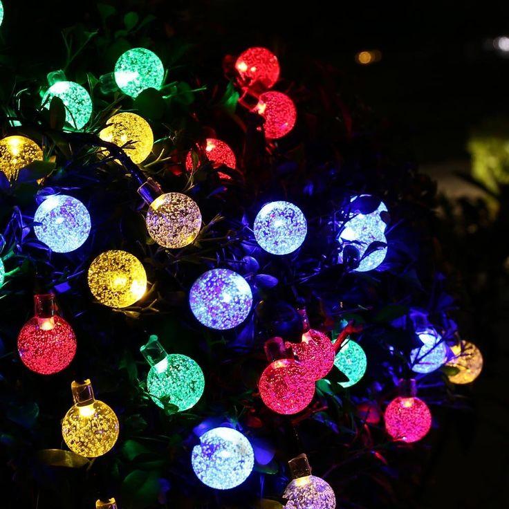 Éclairage extérieur 30 LED Solaire Cordes Guirlandes Solaire Puissance Boule de Cristal Globe Lampe Pour Jardin Lumière De Noël Décoration