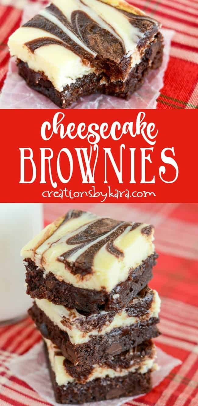Marbled Cheesecake Brownies – fudgy brownies with a creamy cheesecake layer. A d…