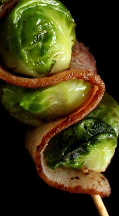 Bacon and Brussels Sprout Skewers - this low-carb appetizer is destined to become a new classic at any spread you're hosting! ❊