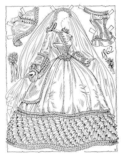 36 best Dolls - 1850s 1860s Antique Paper Dolls images on Pinterest ...