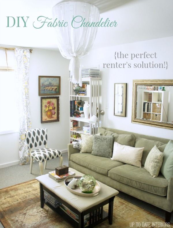 Fabric Chandelier: The perfect solution for renters!