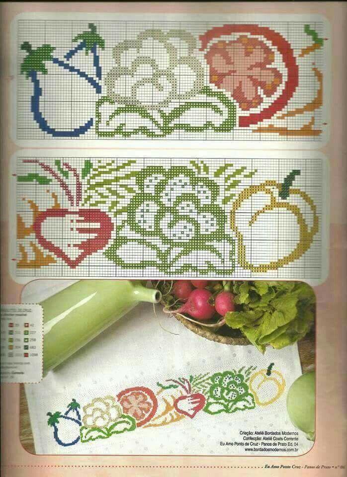 505 best Punto de cruz para cocina images on Pinterest   Bordado de ...