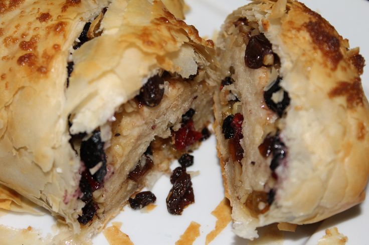 Dried Fruit Phyllo Roll - you can use any variety of dried or fresh fruit...so easy and so YUMMY!