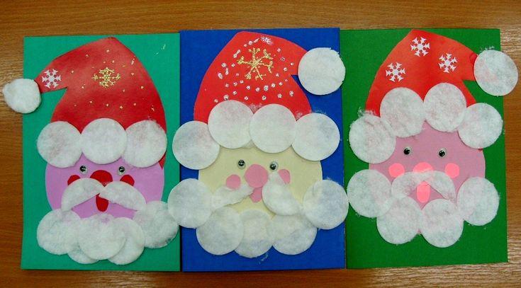 """Дорогие читатели блога """"Творим вместе с детьми""""! Вот и мы начали подготовку к Новому году на уроках технологии. Ребята сделали елочки и Дед морозов. В качестве образца покажу лишь несколько работ...."""