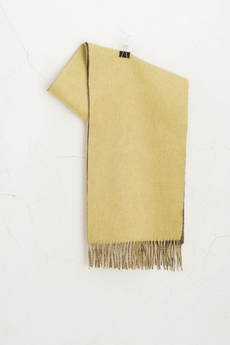 Both Side Knit Muffler, Brown