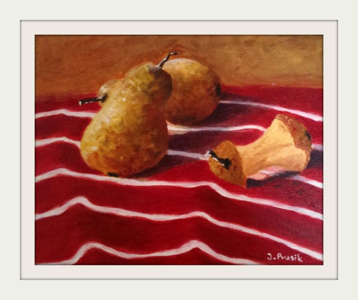 Pears for Pinocchio oil on canvas 20x25cm