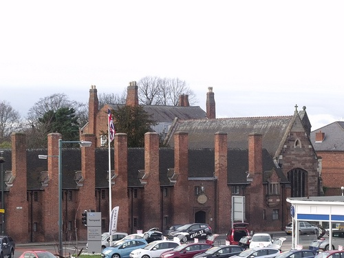Hospital of St John Without the Barrs and Chapel, Lichfield - from Lichfield City Station