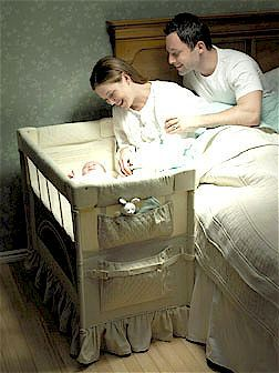 Do you want to keep your newborn close to you?  Here is a safe crib for co-sleeping with your baby.