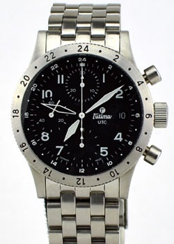 Tutima FX UTC Automatic Chronograph Watch 740-64 $2100