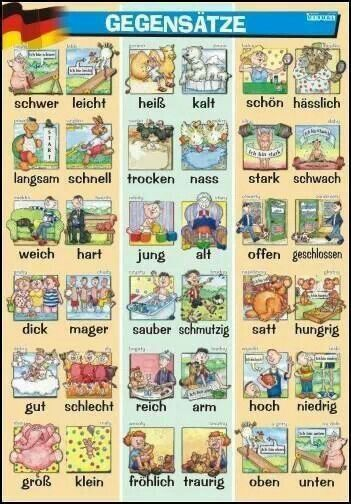 Gegensätze lernen - sehr hilfreich bei Lese-Rechtschreibschwäche